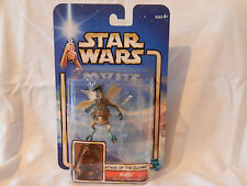 STAR WARS WATTO MOS ESPA JUNK DEALER WITH STAND, HASBRO 2002, CARDED