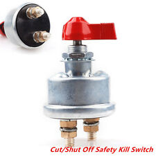 Racing Master Battery Quick Disconnect Cut/Shut Off HD 2 Post Safety Kill Switch