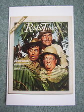 Postcard Radio Times cover October 1977 TV It ain't half hot mum Windsor Davies