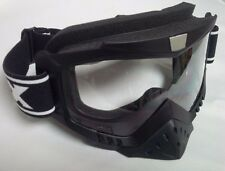 Motocross Goggle with nose guard Black Matte