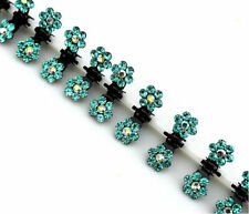 Wholesale 6pc Girls Sweet Crystal Rhinestone Flower Mini Hair Claws Clips Clamp