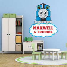 THOMAS THE TANK ENGINE LARGE PERSONALISED BOYS ROOM WALL STICKER VINYL MURAL