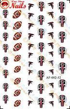 52pcs Atlanta Falcons Nail Art Decals Stickers Transfers. NFL AF002-52