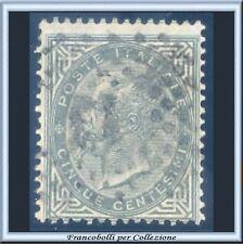 1866 Italia Regno cent. 5 verde grigio Tiratura Torino n. T16 Usato
