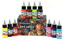 USA Kirt Silver Series Tattoo Ink Set StarBrite Colors Tommy's 10 of 1oz Bottles