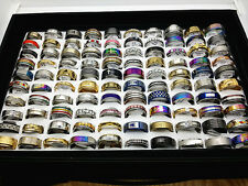 wholesale 100pcs/box mix style stainless steel jewelry rings with a display tray