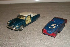 ORG 1960'S CORGI DIECAST AUSTIN HEALY & CITROEN CARS FOR PARTS OR RESTORE AS IS