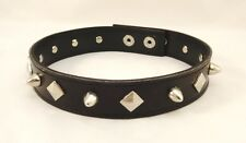 New Goth Punk Biker Faux Leather Choker Necklace with Metal Spikes #N2518