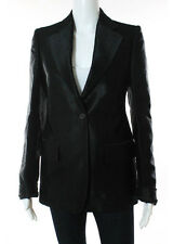 AUTH NWT GUCCI Black Wool Long Sleeve Collared One Button Blazer IT 40 CC7057MHL