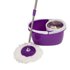 360 Rotating Magic Hurricane Spin Mop Microfiber Head Bucket Stainless Steel