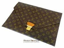 Authentic LOUIS VUITTON Vintage Monogram Poche Plat 36 Portfolio Clutch Bag