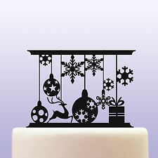 Acrylic Christmas Ornaments and Snowflakes Keepsake Cake Topper Decoration