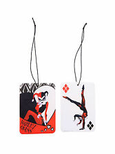 DC COMICS BATMAN JOKER HARLEY QUINN 2 PACK VANILLA SCENT HOME CAR Air Freshener