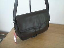 Fashion original leather shulder bag with lots of comprtment - brown