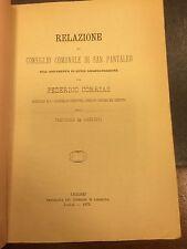 ANNO 1874 - Relazione del Comune di San Pantaleo         17/10/15