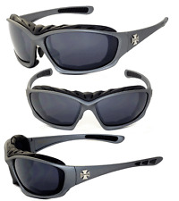 Choppers Motorcyle Riding Glasses Foam Padded Sunglasses -  Gun Metal C49