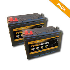 Lot de 2 x Batteries panneaux photovoltaiques decharge lente 12v 86ah 500 cycle