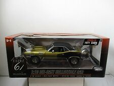 1/18 HIGHWAY 61 GOLD / BLACK 1971 CUDA 383