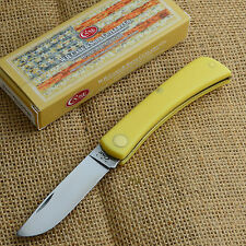 Case XX Yellow Synthetic Handle Sod Buster Jr Folding Pocket Knife 00032 3137 CV