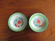 Two Vintage Yamata Chinese Porcelain Enamelware small Bowls Floral