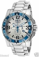 Invicta 80606 Excursion Men's Silver/Blue Stainless Steel Dial 50mm Watch Chrono