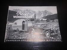 Prospekt Sales Brochure Reise Wohnwagen Keutgen Camping Wagon Wohnanhänger Opel?