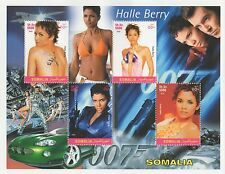 HALLE BERRY JAMES BOND 007 BOND GIRL SOMALIA 2002 MNH STAMP SHEETLET