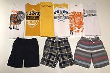 EUC LOT OF 9 GYMBOREE BOYS SHIRTS/SHORTS SIZE 5/6 Years