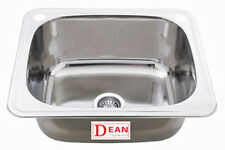 Large Laundry Sink Tub Trough Stainless Steel 45L with ByPass Kit