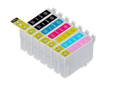7PK High-Yield 2 BK & 5 Color Ink For Epson 77 78 T0781 - T0786 T0771 - T0776