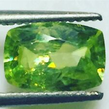 Natural 1.46 Carat Rare Green Titanite Sphene Genuine Loose Gemstone