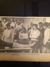 A3-4 Ephemera 1969 Picture Ellington Girls School Life Saving Demonstration