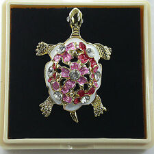 NEW ! THAILAND HANDCRAFT FASHION JEWELRY PIN-BROOCH TURTLE SOUVENIR GIFT