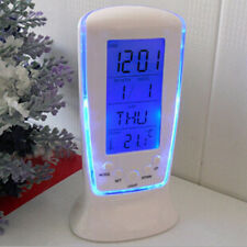 Digital Backlight LED Music Table Alarm Clock Snooze Thermometer Calendar