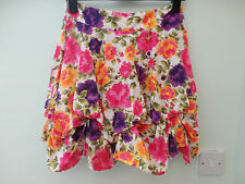 Dorothy Perkins Floral 100% Cotton Mini Boho Tulip Skirt Size 8