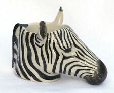 Zebra egg cup  by Quail Pottery ceramic china Gift Boxed