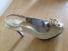 MADDEN GIRL Kiira Women's Cream Fabric Slingback Open Toe Pump High Heels 8.5M
