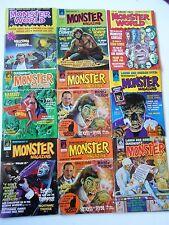 Lot of 9 Quasimodos Monster Magazine full run Famous Monsters World Naschy