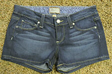 PAIGE CANYON Short Shorts 26 NWOT$149 Stretch!Distressed!Super Sexy!Paige Logo's