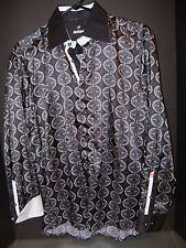 MONDO DESIGNER DRESS LONG SLEEVE MENS SPORT SHIRT SIZE L (M) BERTIGO RARE NWOT 3