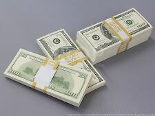 THE BEST PROP MONEY $50k $100 Full Print Stack for Movie, TV, Video
