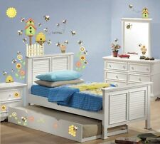 54 LET IT BEE HAPPY WALL DECALS Bees Beehives Flowers Birdhouse Stickers Decor