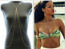 New Body Chain Jewelry Bikini Waist Gold Belly Sexy Beach Harness Slave Necklace