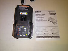*NEW* RYOBI P118 ONE+ 18v VOLT BATTERY CHARGER INTELLIPORT LITHIUM+ NI-CD NICAD