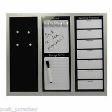Large Dry Wipe Magnetic White Board Weekly Planner Memo Notes Office Whiteboard