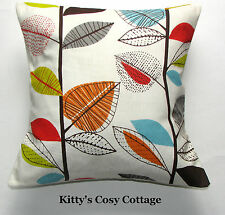 "16"" New Retro Chic 'Autumn Leaves' Multi fabric cushion cover"