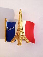 DRAPEAU FRANCAIS MAGNET HOMMAGE PARIS FRANCE TOUR EIFFEL BLEU BLANC ROUGE