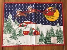 Park B. Smith HOME FOR THE HOLIDAYS Cotton PLACEMAT Santa & Reindeer