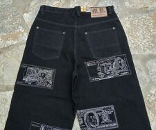NWT! MEMBER'S PROPERTY Mens Black Baggy Loose MONEY Jeans Sz 34 X 32 (True) NEW!