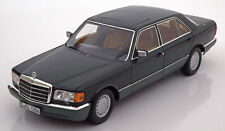 Norev 1985 Mercedes Benz 560 SEL W126 Dark Green Met Dealer Ed. 1/18 Scale New!